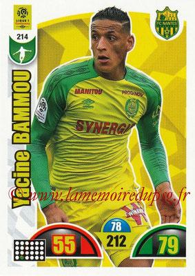 2018-19 - Panini Adrenalyn XL Ligue 1 - N° 214 - Yacine BAMMOU (Nantes)