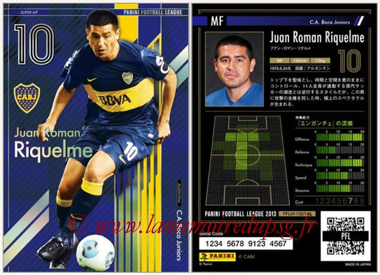 Panini Football League 2013 - PFL04 - N° 132 - Juan Roman RIQUELME (Boca Juniors) (Super MF)