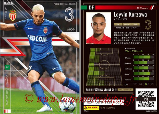 Panini Football League 2015 - PFL12 - N° 059 - Layvin KURZAWA (AS Monaco) (Star)