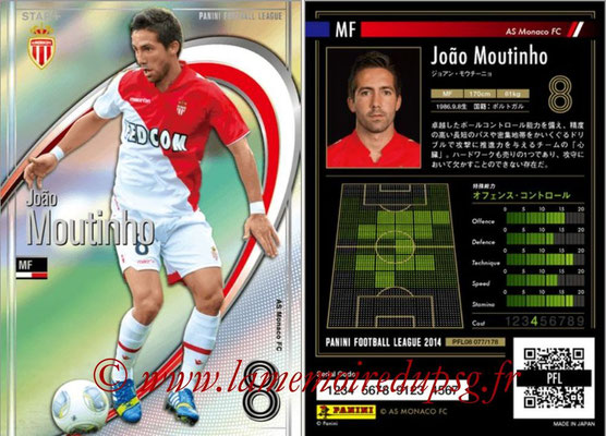 Panini Football League 2014 - PFL08 - N° 077 - Joao MOUTINHO (AS Monaco) (Star +)