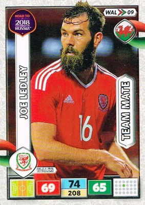 2018 - Panini Road to FIFA World Cup Russia Adrenalyn XL - N° WAL09 - Joe LEDLEY (Pays de Galles)