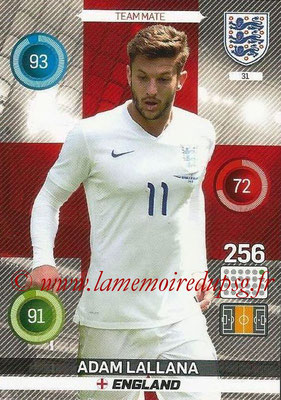 Panini England 2016 Adrenalyn XL - N° 031