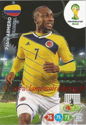 2014 - Panini FIFA World Cup Brazil Adrenalyn XL - N° 078 - Pablo ARMERO (Colombie)