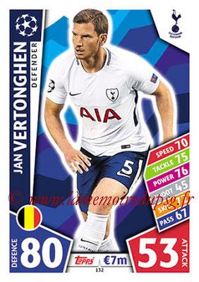 2017-18 - Topps UEFA Champions League Match Attax - N° 132 - Jan VERTONGHEN (Tottenham Hotspur)