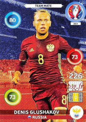 Panini Euro 2016 Cards - N° 323 - Denis GLUSHAKOV (Russie)