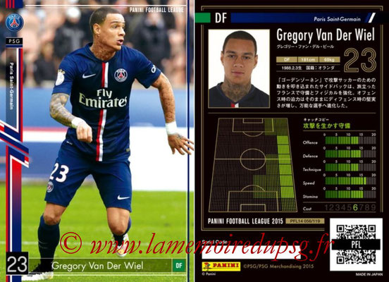Panini Football League 2015 - PFL14 - N° 056 - Gregory VAN DER WIEL (Paris Saint-Germain)