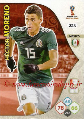 2018 - Panini FIFA World Cup Russia Adrenalyn XL - N° 228 - Hector MORENO (Mexique)