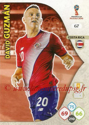 2018 - Panini FIFA World Cup Russia Adrenalyn XL - N° 067 - David GUZMAN (Costa Rica)