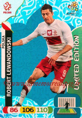 Panini Euro 2012 Cards Adrenalyn XL - N° LE38 - Robert LAWANDOWSKI (Pologne) (Limited Edition)