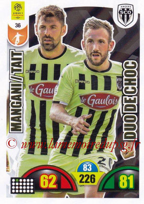 2018-19 - Panini Adrenalyn XL Ligue 1 - N° 036 - Thomas MANGANI + Flavien TAIT (Angers) (Duo de Choc)