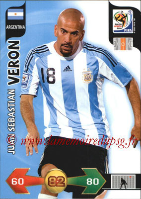 2010 - Panini FIFA World Cup South Africa Adrenalyn XL - N° 014 - Juan Sebastian VERON (Argentine)