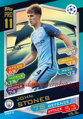 2016-17 - Topps UEFA Champions League Match Attax - N° PRO8 - John STONES (Leicester City FC) (Pro 11)