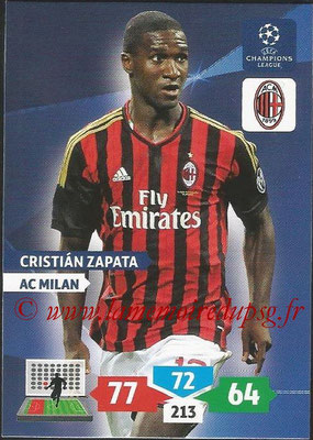 2013-14 - Adrenalyn XL champions League N° 183 - Crisitan ZAPATA (AC Milan)
