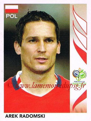 2006 - Panini FIFA World Cup Germany Stickers - N° 066 - Arek RADOMSKI (Pologne)