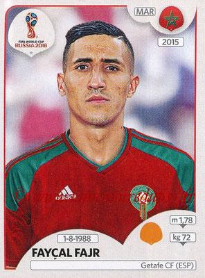 2018 - Panini FIFA World Cup Russia Stickers - N° 165 - Fayçal FAJR (Maroc)
