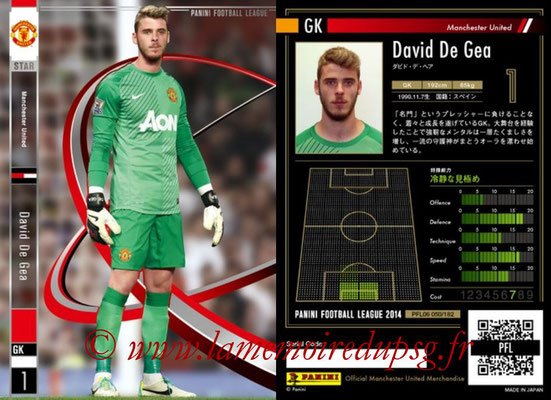 Panini Football League 2014 - PFL06 - N° 050 - David DE GEA (Manchester United FC) (Star)