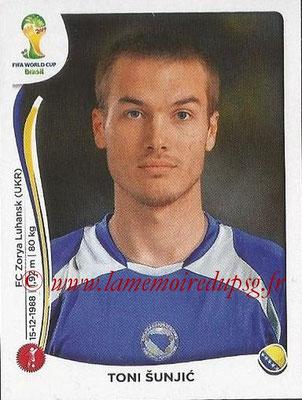 2014 - Panini FIFA World Cup Brazil Stickers - N° 437 - Toni SUNJIC (Bosnie Herzegovine)