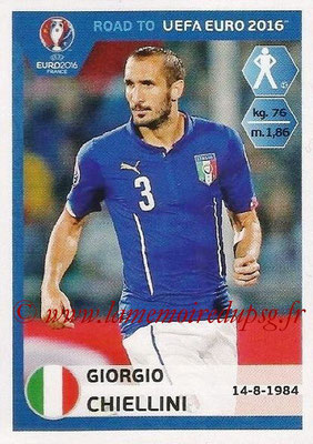 Panini Road to Euro 2016 Stickers - N° 162 - Giorgio CHIELLINI (Italie)
