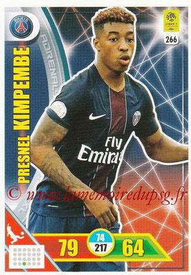 2017-18 - Panini Adrenalyn XL Ligue 1 - N° 266 - Presnel KIMPEMBE (Paris Saint-Germain)