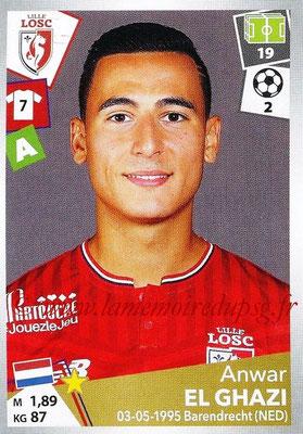 2017-18 - Panini Ligue 1 Stickers - N° 174 - Anwar EL GHAZI (Lille)