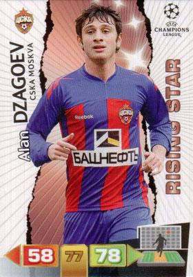 2011-12 - Panini Champions League Cards - N° 100 - Alan DZAGOEV (CSKA Moscou) (Rising Star)