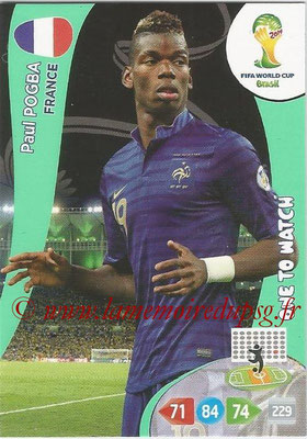 2014 - Panini FIFA World Cup Brazil Adrenalyn XL - N° 162 - Paul POGBA (France) (One to watch)