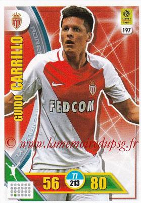 2017-18 - Panini Adrenalyn XL Ligue 1 - N° 197 - Guido CARRILLO (Monaco)