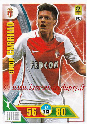 2017-18 - Panini Adrenalyn XL Ligue 1 - N° 197 - Guido CARRILLO (Monaco)