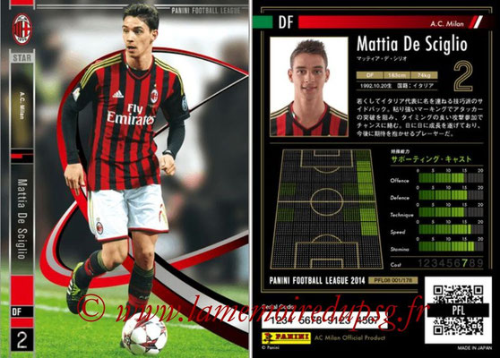 Panini Football League 2014 - PFL08 - N° 001 - Mattia DE SCIGLIO (Milan AC) (Star).
