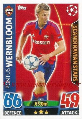 2015-16 - Topps UEFA Champions League Match Attax - N° N02 - Pontus WERNBLOOM (CSKA Moscou) (Scandinavian Stars) (Nordic Edition)