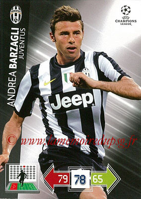 2012-13 - Adrenalyn XL champions League N° 111 - Andrea BARZAGLI (Juventus FC)
