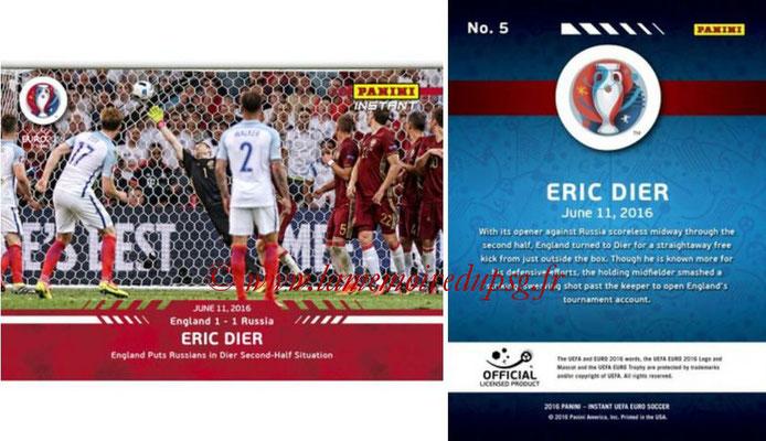 Panini Instant Euro 2016 - N° 005 - Eric DIER