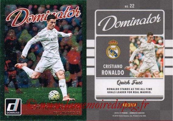2016 - Panini Donruss Cards - N° D22 - Cristiano RONALDO (Real Madrid CF) (Dominator)