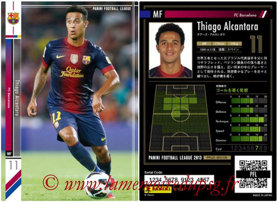 Panini Football League 2013 - PFL01 - N° 051 - Thiago Alcantara ( FC Barcelona )