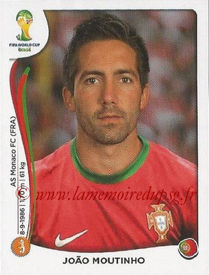 2014 - Panini FIFA World Cup Brazil Stickers - N° 518 - Joao MOUTINHO (Portugal)