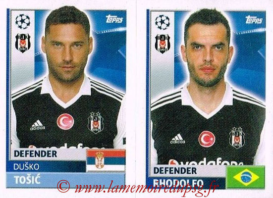 2016-17 - Topps UEFA Champions League Stickers - N° BES 8-9 - RHODOLFO + Dusko TOSIC (Besiktas JK)