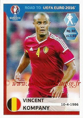Panini Road to Euro 2016 Stickers - N° 002 - Vincent KOMPANY (Belgique)