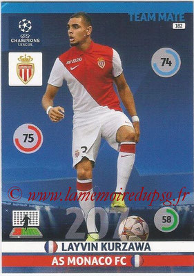 2014-15 - Adrenalyn XL champions League N° 182 - Layvin KURZAWA (AS Monaco)