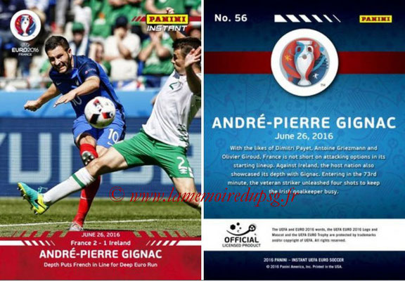 Panini Instant Euro 2016 - N° 056 - Andre-Pierre GIGNAC