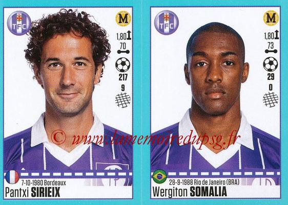 2016-17 - Panini Ligue 1 Stickers - N° 836 + 837 - Pantxi SIRIEIX + Wergiton SOMALIA (Toulouse)