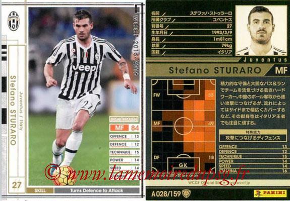 2015-16 - Panini WCCF - N° A028 - Stefano STURARO (Juventus FC)