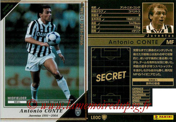 2015-16 - Panini WCCF - N° LEOC1 - Antonio CONTE (Juventus FC) (Legend Of the Club)