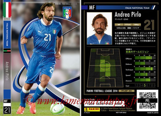 Panini Football League 2014 - PFL08P - N° 003 - Andrea PIRLO (Italie) (Star)