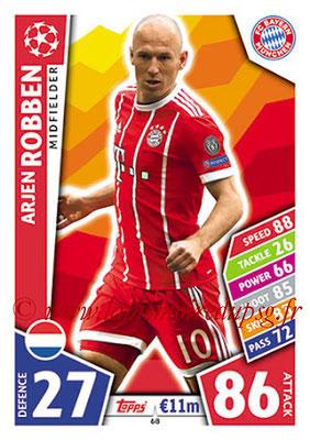 2017-18 - Topps UEFA Champions League Match Attax - N° 068 - Arjen ROBBEN (FC Bayern Munich)