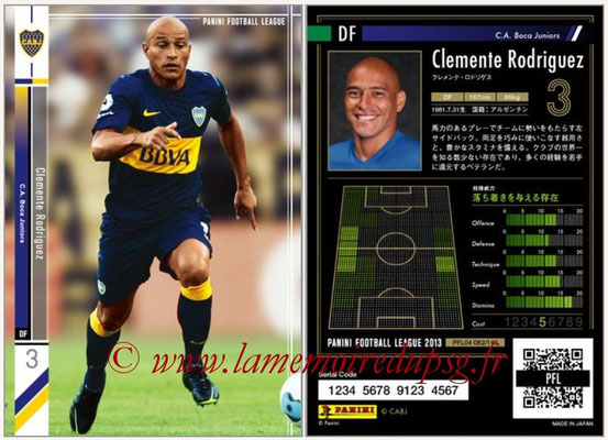 Panini Football League 2013 - PFL04 - N° 082 - Clemente RODRIGUEZ (Boca Juniors)