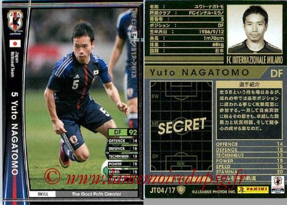 2012-13 - WCCF - N° JT04 - Yuto NAGATOMO (Inter Milan) (Japon)