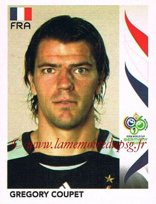 2006 - Panini FIFA World Cup Germany Stickers - N° 472 - Gregory COUPET (France)