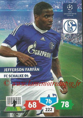 2013-14 - Adrenalyn XL champions League N° 252 - Jefferson FARFAN (FC Schalke 04)