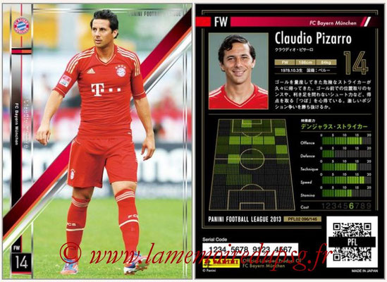 Panini Football League 2013 - PFL02 - N° 096 - Claudio Pizarro ( FC Bayern Munchen )