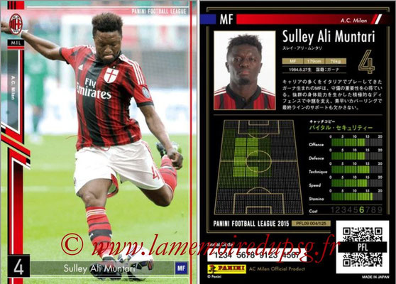 Panini Football League 2015 - PFL09 - N° 004 - Sulley ALI MUNTARI (Milan AC)